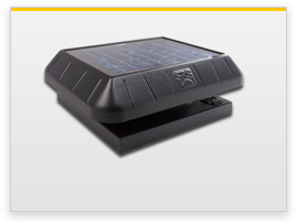 curb base solar attic fan