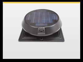 round solar attic fan