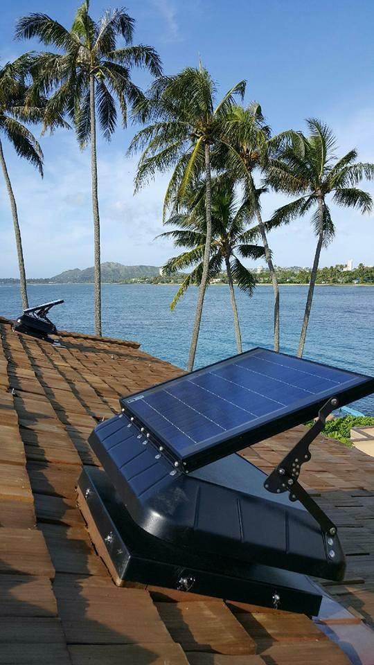 Solar Attic Fan Installed at Beach