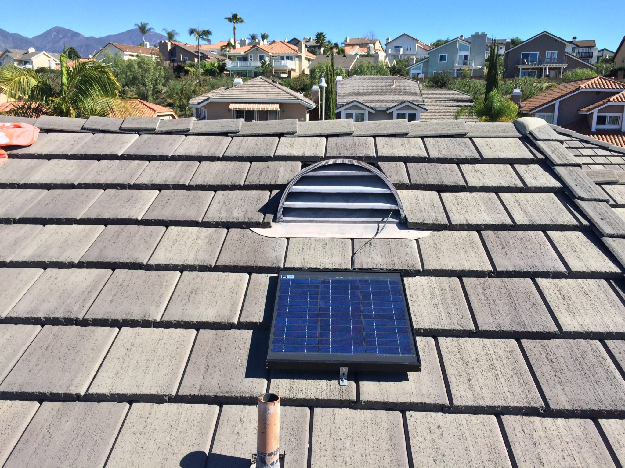 SRS 30W Gable Fan panel sunrise solar the original solar powered attic fan Attic Exhaust Vents at alyssarenee.co