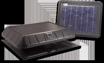 solar power remote panel fan