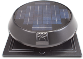 solar power round fan