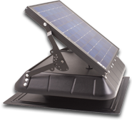 solar power tilt fan