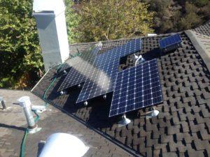 solar power unit on roof
