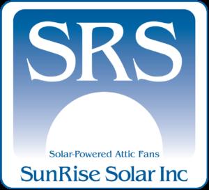 sunrise solar attic fans logo